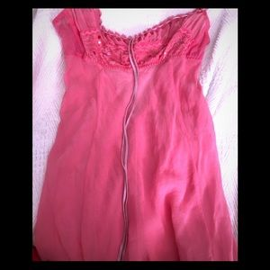 VS Pink 100% Silk baby do chemise
